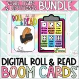 Vowel Teams and Diphthongs Digital Roll & Read Boom Cards™ Bundle