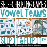 Vowel Teams and Diphthongs Self-Checking Games - Slip It a