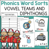 Vowel Teams and Diphthongs WORD SORTS
