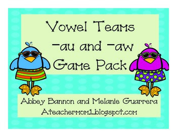 Vowel Teams -au and -aw Game Pack