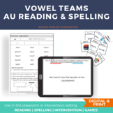 Vowel Diphthong AU AW Orton-Gillingham Activities