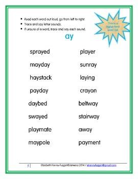 Vowel Teams: ay