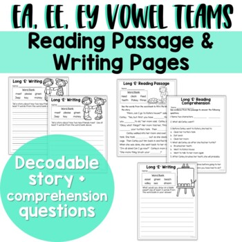 Long E Vowel Teams: Reading, Writing, Sorting and More!