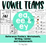 Long E Vowel Teams | EA, EE, EY Worksheets & Activities {Reading and Writing}