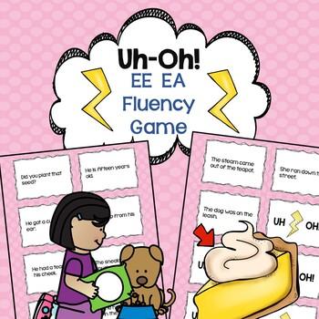 Vowel Teams ee & ea Fluency Game Uh-Oh!