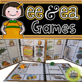 Vowel Teams ee ea:  Long E Phonics Games for Word Work or Centers