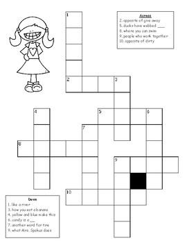 Vowel Teams - ee ea sort, crossword puzzle