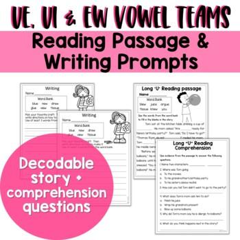 Long U Vowel Teams: Reading, Writing, Sorting and More!