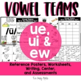 Ew, Ue and Ui | Long U Vowel Teams: Reading, Writing, Sorting and More!