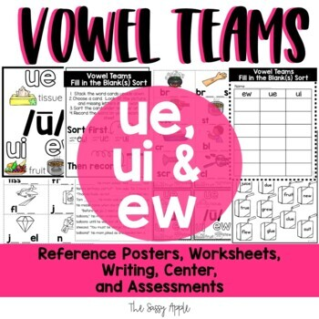 Long U Vowel Teams: Reading, Writing, Sorting and More!