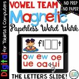 Vowel Teams Word Work - Long Vowel Pair Paperless Phonics for Google Use