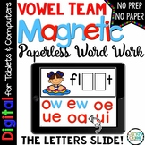 Vowel Teams Word Work - Long Vowel Pair Paperless Phonics for Google Use
