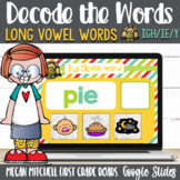 Vowel Teams ie, igh, and y Turtle out the Words using Google Slides