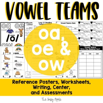 Long O Vowel Teams: Reading, Writing, Sorting and More!