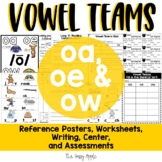 Long O Vowel Teams | OA, OE, OW Worksheets and Activities {Reading and Writing}