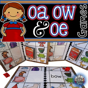 Vowel Teams oa ow oe:  Long O Phonics Games for Word Work