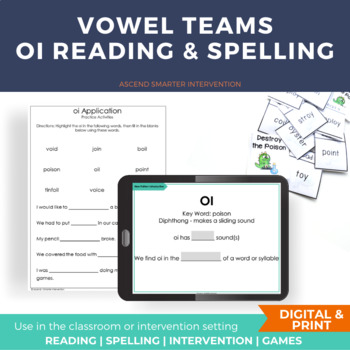 Vowel Team Literacy Center Activities OI OY