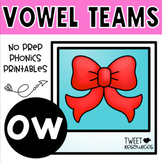 OW Vowel Teams No Prep Phonics Printables with Color Posters