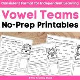 Vowel Teams (phonics) Easy Printables
