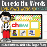 Vowel Teams ui, ue, and ew Turtle out the Words using Goog