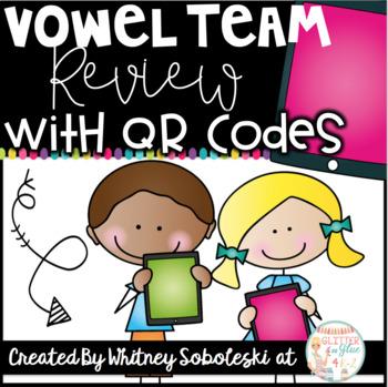 Vowel Teams/Long Vowels with QR Codes
