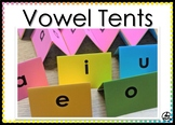Vowel Tents - Print Onto 5x8 Index Cards