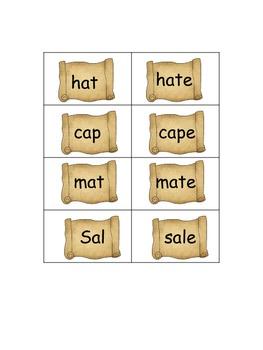 Vowel Treasures 1 File Folder Game - Sort Long A Short A Words