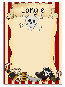 Vowel Treasures 2 File Folder Game - Sort Short e Long e Words