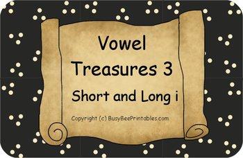 Vowel Treasures 3 File Folder Game - Sort Short i Long i Words