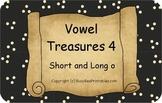 Vowel Treasures 4 File Folder Game - Sort Short o Long o Words