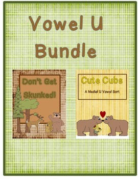 Vowel U Bundle (Card Game and Sort)
