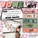 Vowel Valley giiiirl!! {EDITABLE Vowel Wall!!}