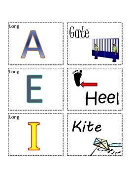 Vowel-Word Matching Game