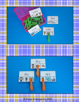 Vowel Word/Picture Clip Cards Bundle