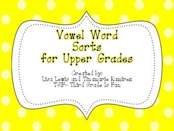 Vowel Word Sorts for Upper Grades