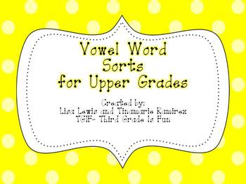 Vowel Word Sorts for Upper Grades