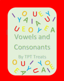 Vowel and Consonant Worksheet
