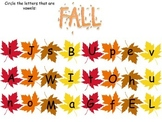 Vowel Worksheet: Fall