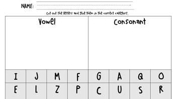 Vowel and Consonant Sort