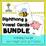 Vowel and Diphthong Cards Bundle - Speech Therapy and Apraxia Activities