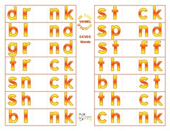 Vowel in the Middle - CCVCC Words