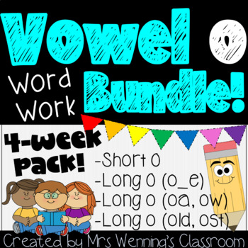 Vowel o Pack - 3 Weeks of Lesson Plans, Activities, and Word Work!