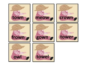"Vowel ""ow"": File Folder Activity"