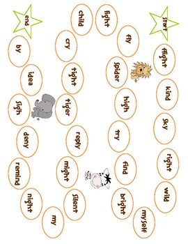 Vowel patterns i, igh, y