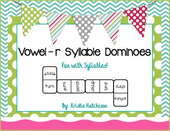 Vowel-r Syllable Dominoes