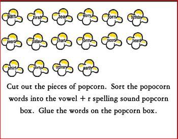 Vowel + r spelling Activities