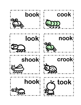 Vowel sound cards for 'oo'