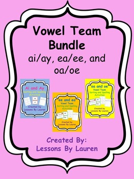 Vowel team bundle - ai/ay, ee/ea, oa/oe