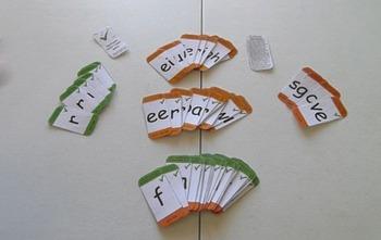 Vowel team wordbuilding game