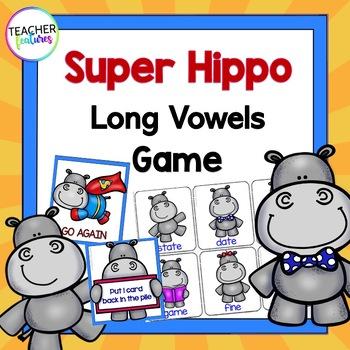 Vowel Teams Game: Super Hippo